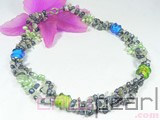 15mm blue and green glaze necklace wholesale