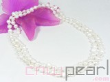 7-8mm white irregular freshwater pearl necklace