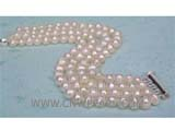 four rows 6-7mm white potato freshwater pearl  bracelet