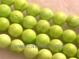 10mm peak green round natural loose turquoise beads