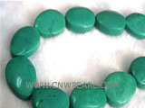 16-25mm green cake shape natural loose turquoise strand
