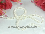 7-8mm natural white color nugget pearl strands