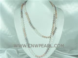 6-7mm rice freshwater pearl necklace on wholesale